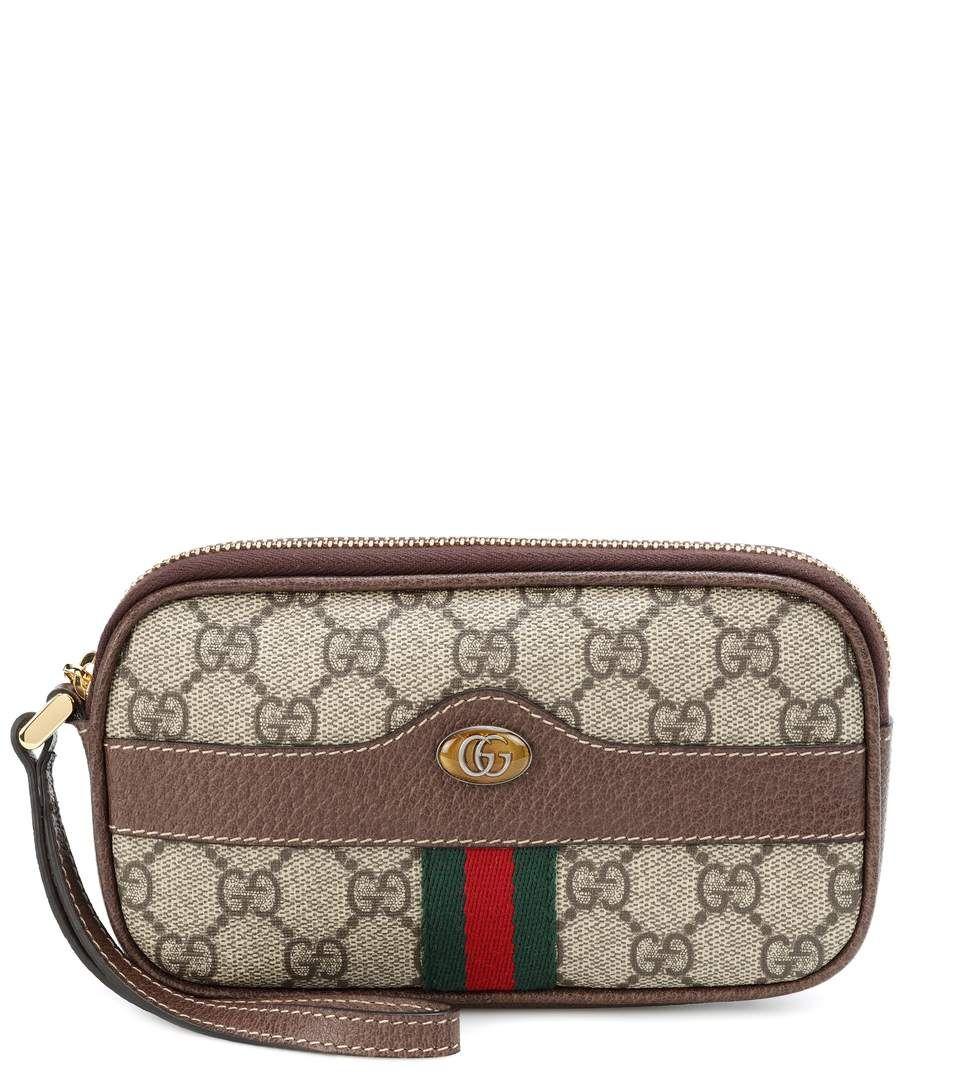 f238de74465a2e GUCCI Ophidia GG Supreme pouch. #gucci # Brown Leather, Supreme, Designer  Handbags