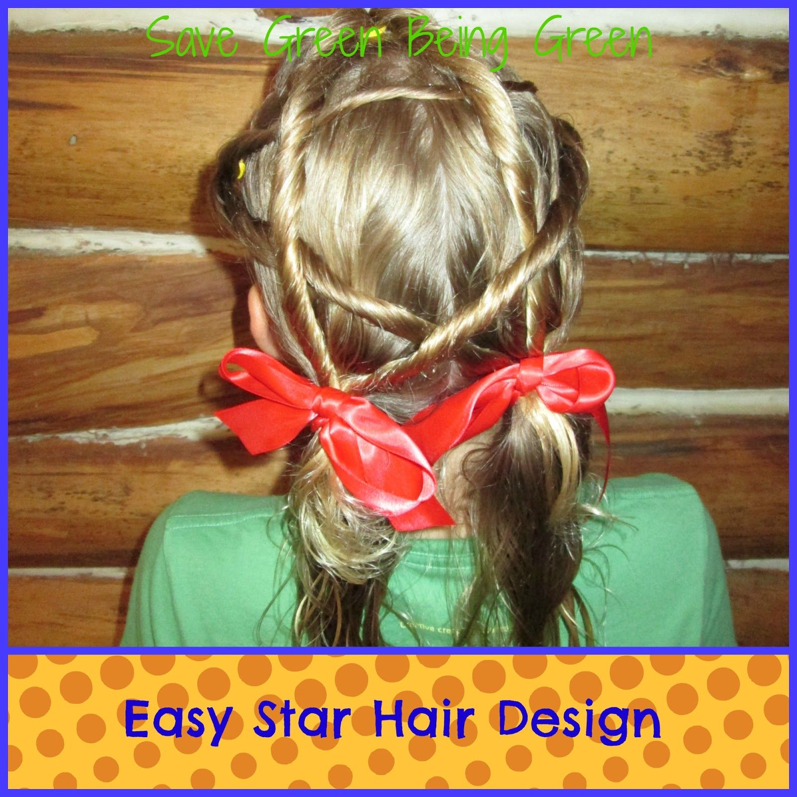 Easy Star Hair Design For Girls Fun Idea For Memorial Day Or July