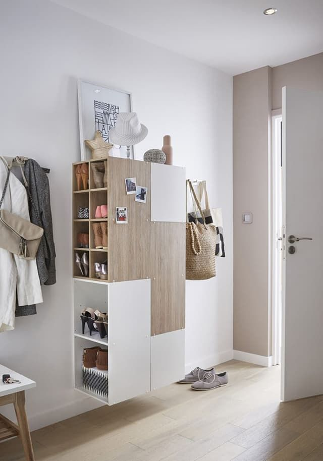 Entry hall Entryways Without Closets DIY Storage