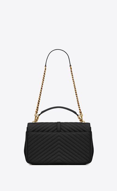 441253546e95 SAINT LAURENT Monogram College D classic large collège bag in black  matelassé leather and vintage gold-toned hardware b V4