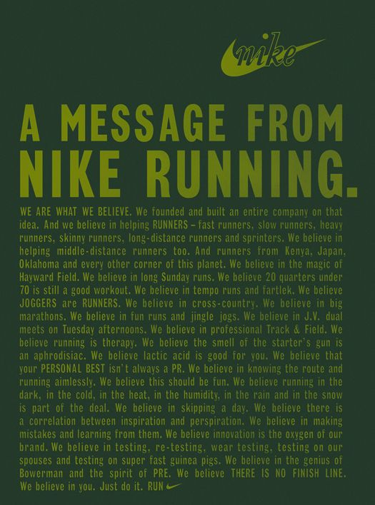 Nike Manifesto Google Search Running Motivation Motivation Running Quotes