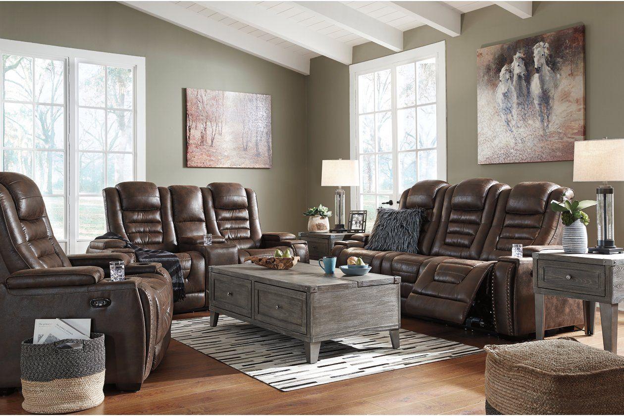 Pin On Power Reclining Sofa #warnerton #chocolate #power #reclining #living #room #set