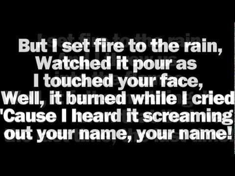 Adele Set Fire To The Rain Lyrics Ne With Images The