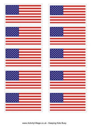 Us Flag Printables American Flag Sticker United States Flag