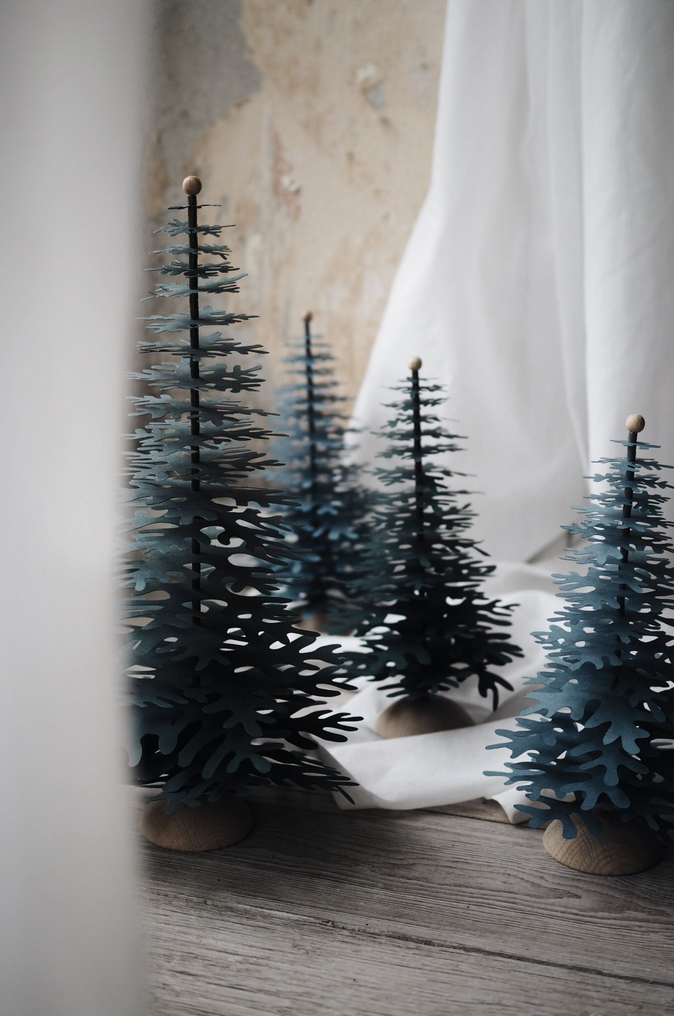 Nordic Fir Tree 3D Kit on Foot- Forest Green Big - Fabulous Goose Scandinavian interior design products to a discerning client