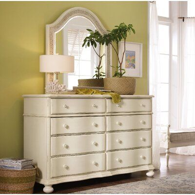 Hooker Furniture Sandcastle 8 Drawer Double Dresser with Mirror | Perigold
