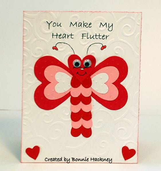 lsc203 my heart flutters 4 u  valentines day cards