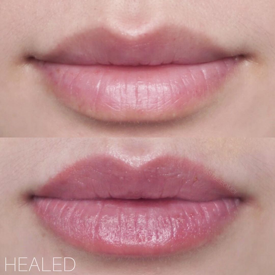 Healed lip blush amazing results after one session