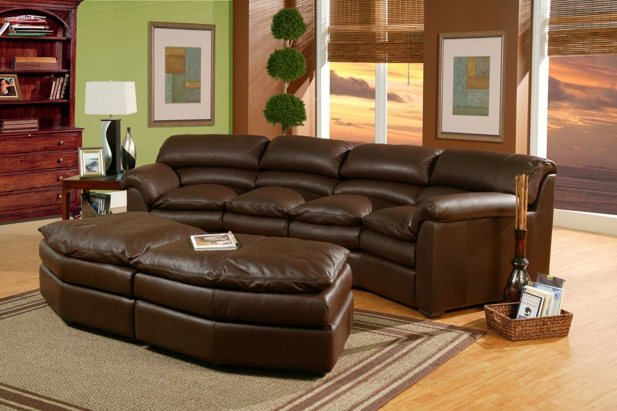 Canyon Leather Curved Sofa | Leather furniture, Furniture ...