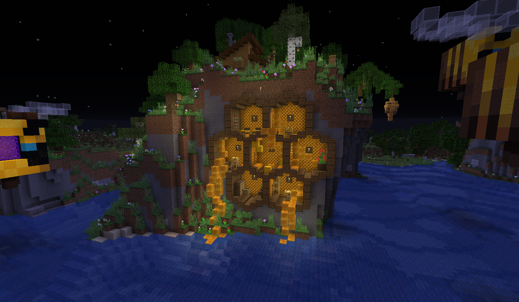 I Built This Honeycomb House In A Cool Flower Forest Biome   Minecraftbuilds In 2020