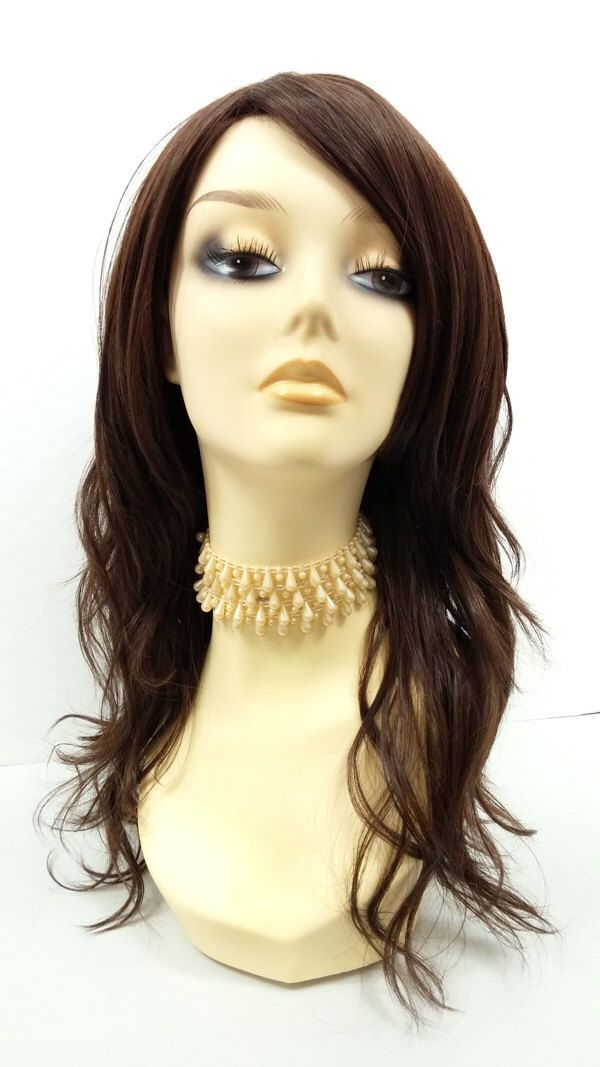 Long 18 inch Brown Wavy Wig with Premium Heat Resistant Fiber. [30-277-Monday-6] by ParamountWigs on Etsy https://www.etsy.com/listing/287651369/long-18-inch-brown-wavy-wig-with-premium