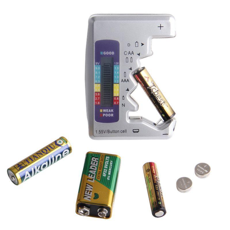 Universal Digital Battery Tester Battery Capacity Tester For Aa Aaa 1 5v 9v Lithium Battery Power Supply Measuring Lithium Battery Digital Power