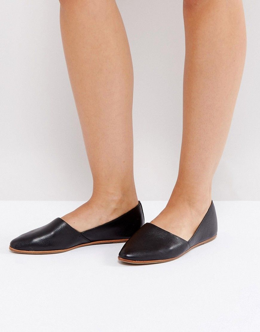 31f9218b8525 ALDO Blanchette Black Leather Flat Shoes - Black