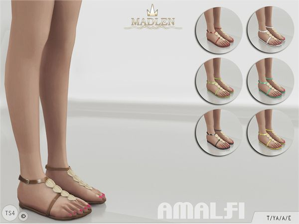 The Sims Resource: Madlen Amalfi Shoes by MJ95 • Sims 4 Downloads