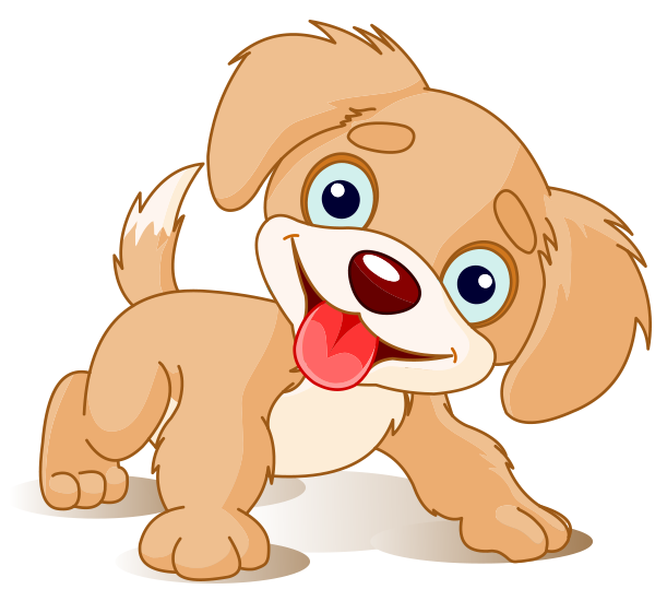Send This Puppy To Facebook When You Want To Give Someone A Special Hello Puppy Cartoon Dog Clip Art Happy Cartoon