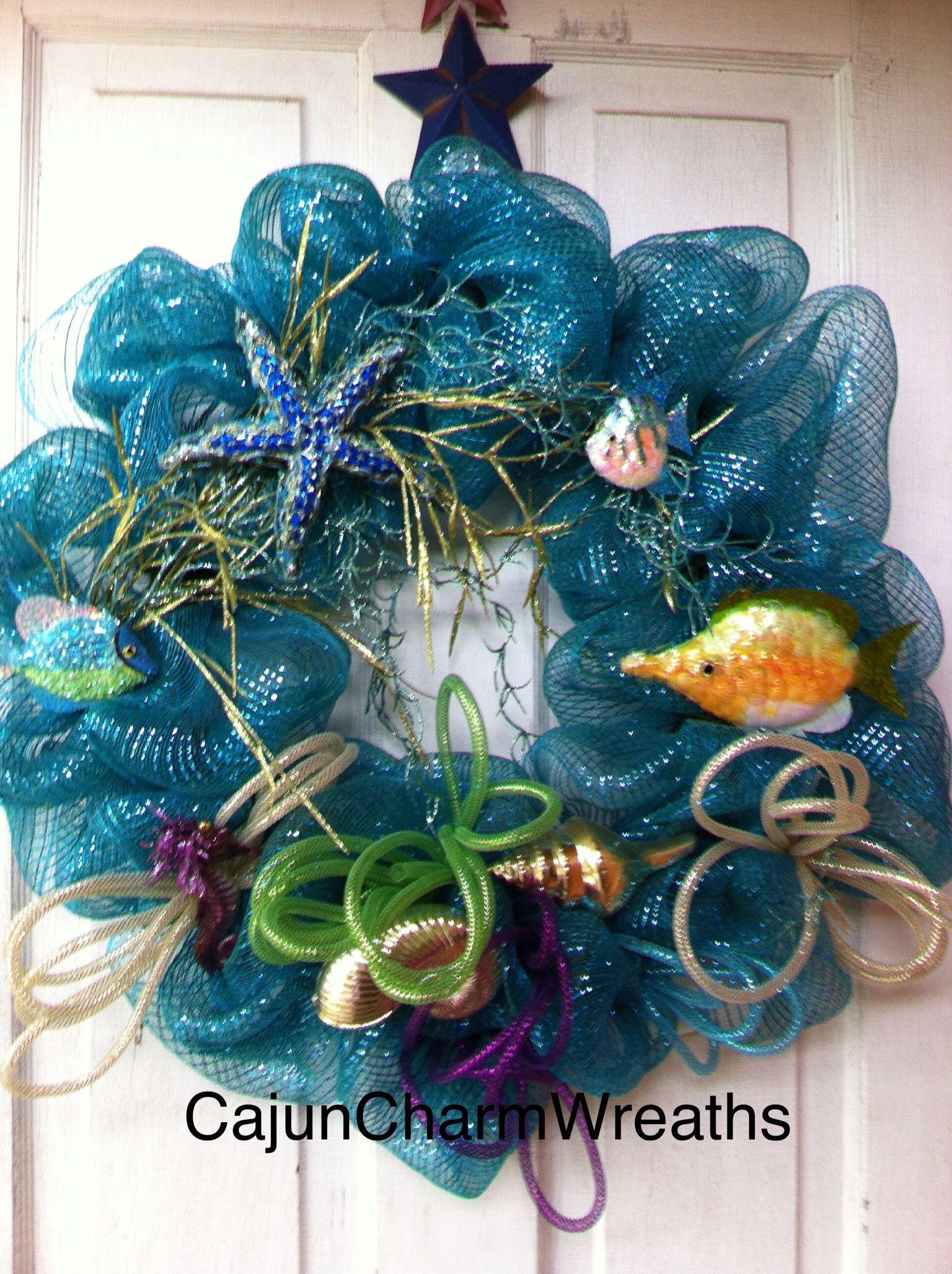Do It Yourself Home Design: Under The Sea Deco Mesh Wreath