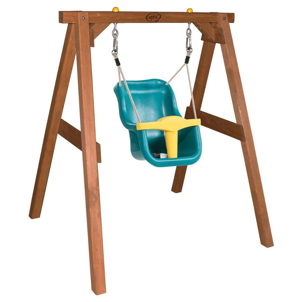 Babyschaukel Holzschaukel Mit Babysitz Holzgestell Schaukel Holzschaukel Babyschaukel
