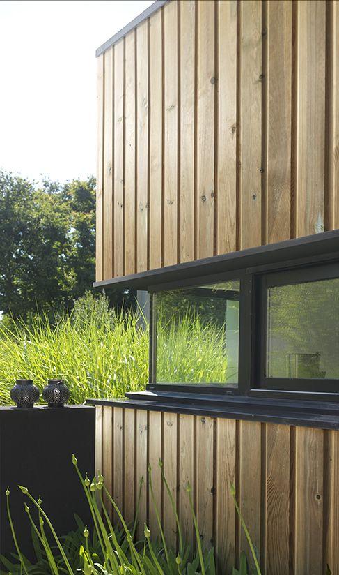 Maison moderne mixe bois et menuiseries aluminium Bardage bois ...