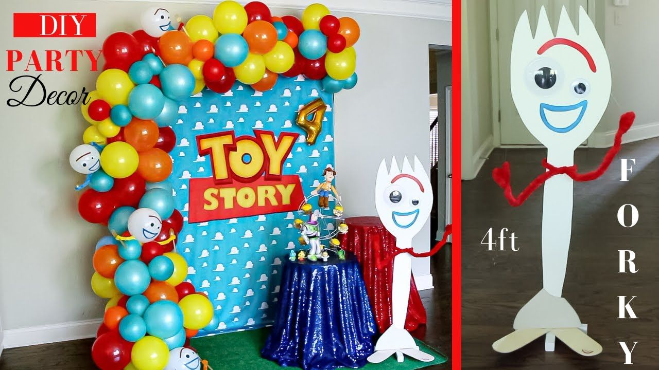 Toy Story Party Decoration Ideas  Watch me SET-UP!  DIY Forky