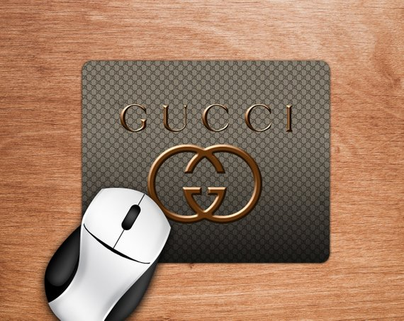 1c0ce3dff815 Inspired by Gucci Mouse Pad Gold Mousepad Gucci Mouse Fashion Mouse ...
