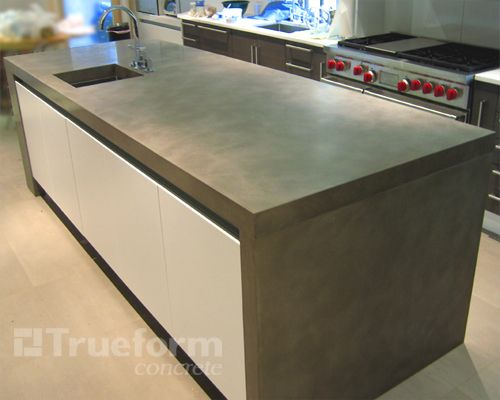 3 Concrete Island In Nyc Trueform Decor Polished Concrete