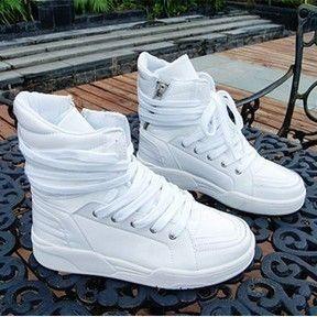 ea9f6eb4bb3c0 Free shipping men s korean designer fashion high tops sneakers red bottom  shoes for men black white red blue £23.78