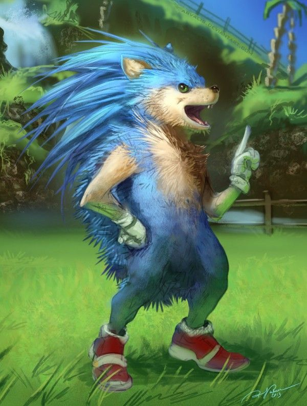 Realistic Sonic The Hedgehog Painting Sonic The Hedgehog Sonic Art Sonic