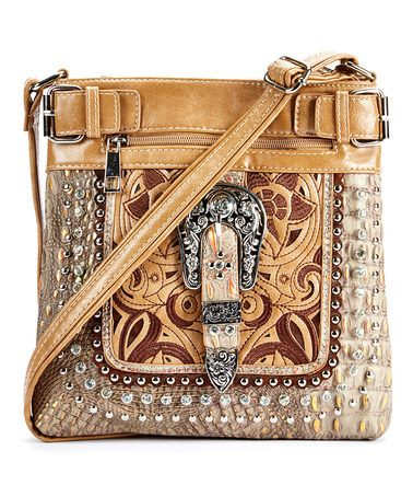 Love this Taupe Embroidered Western Messenger Bag on #zulily! #zulilyfinds