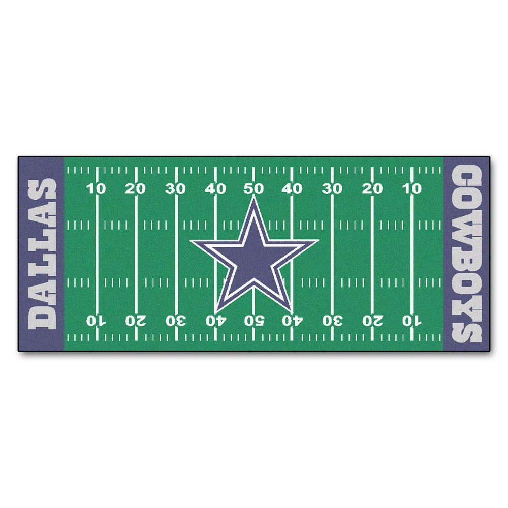 FANMATS Dallas Cowboys 3 Ft. X 6 Ft. Football Field Rug