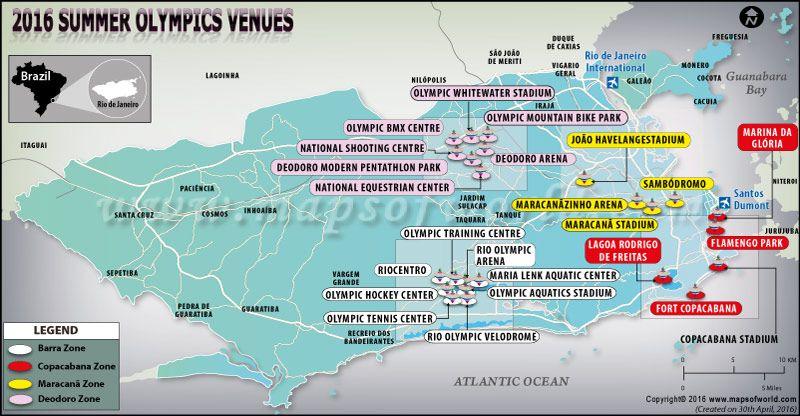 Rio De Janerio Summer Olympics Venues Map Summer Olympics Olympics