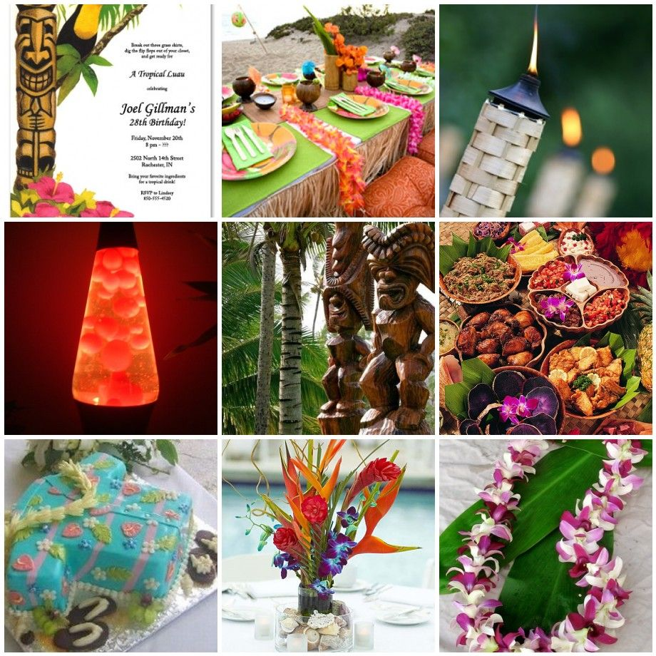 Hawaiian Luau Party, Luau Theme Party, Luau