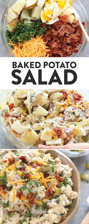Baked Potato Salad - Fit Foodie Finds #foodsides