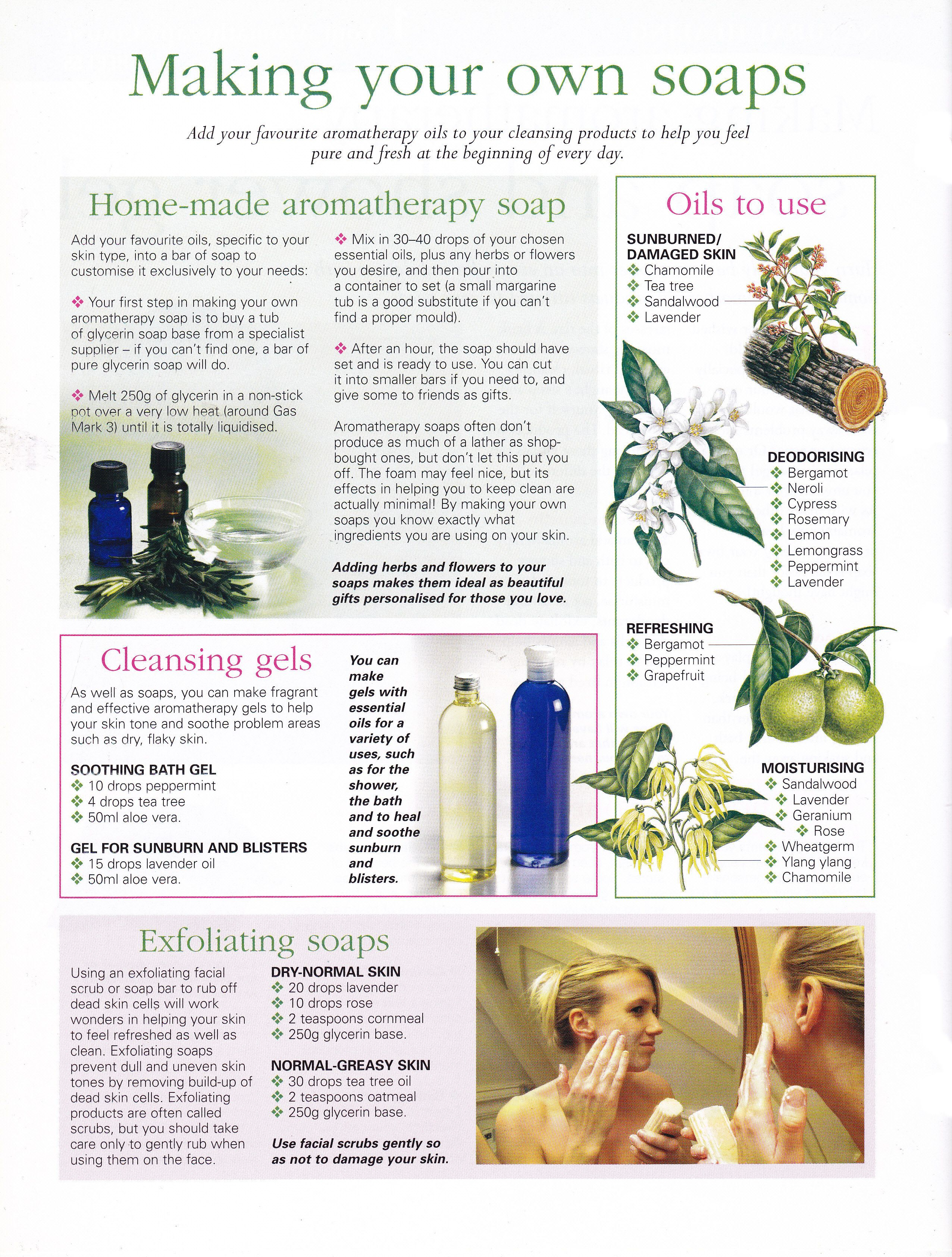 Making your own soaps Aromatherapy soap, Diy natural