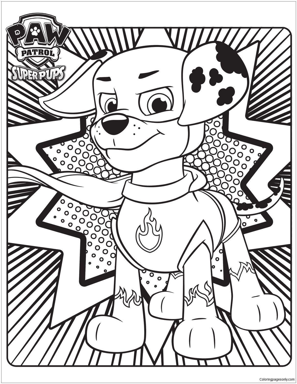 Paw Patrol Super Pups 3 Coloring Page