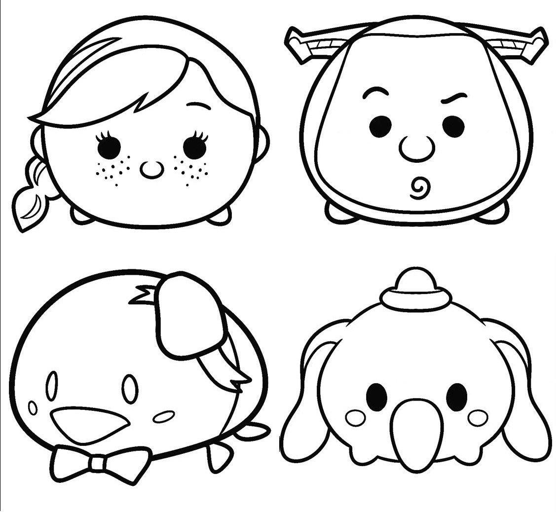 Printable Disney Tsum Tsum Coloring Page  Tsum tsum coloring