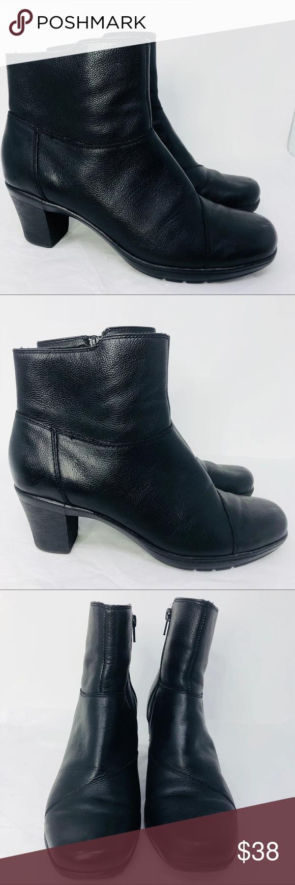 Clark Bendables Ankle Boots Black