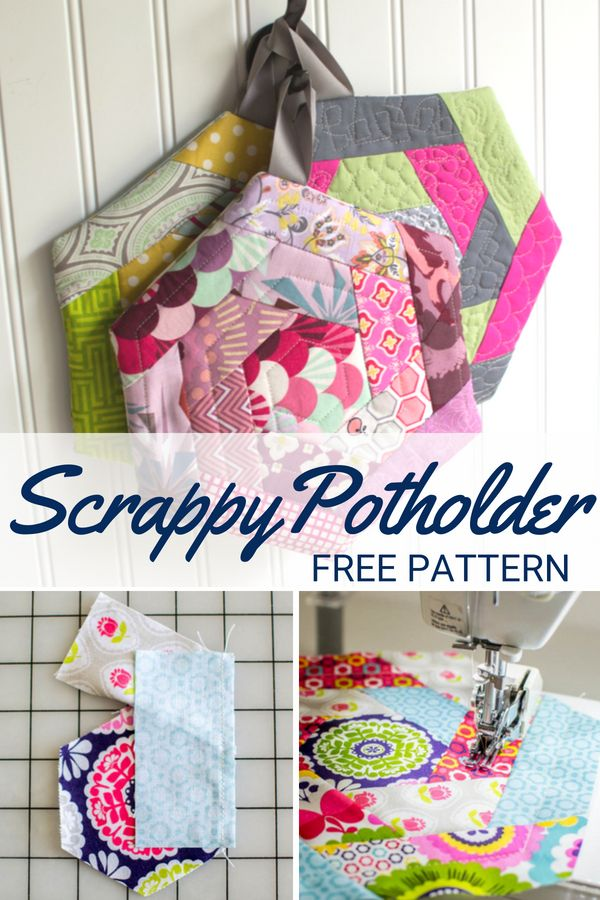 Perfect your quilting skills with this free scrap happy potholder ...