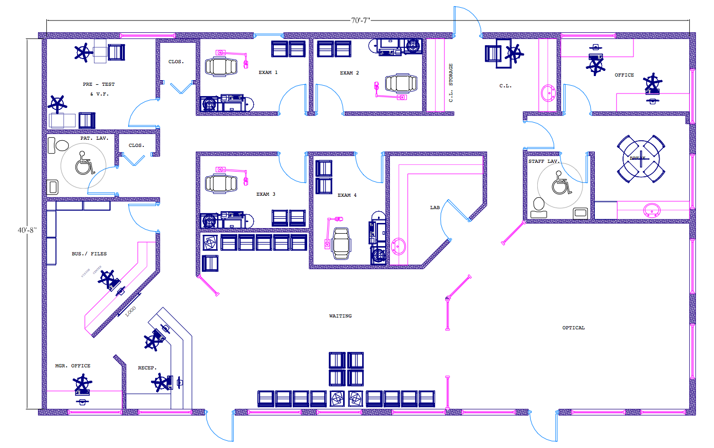 12 kb jpeg office layout optometry office layout barbara for Office floor plan layout