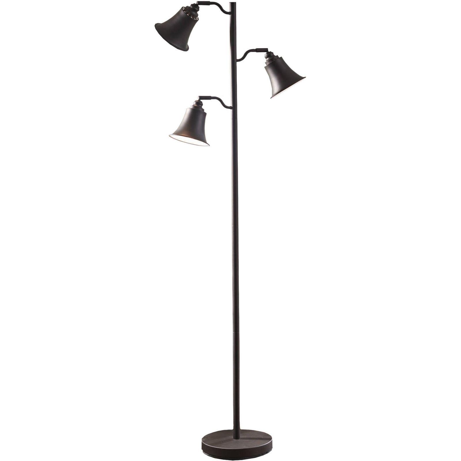 Steel Metal Tall Tree Style Floor Lamp For Bedroom Living Room ...