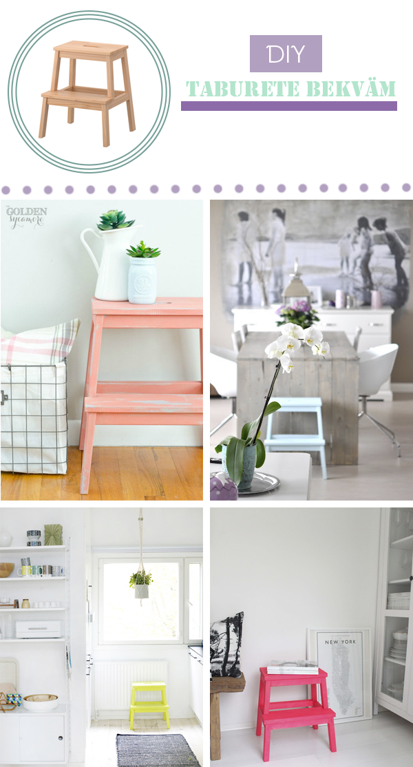 Un taburete de ikea pintado con chalk paint diy ikea for Chalk paint muebles ikea