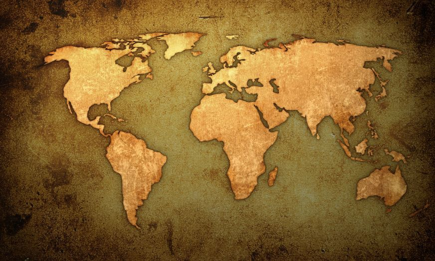 The world keep moving and rambling pinterest vintage maps the world gumiabroncs Image collections