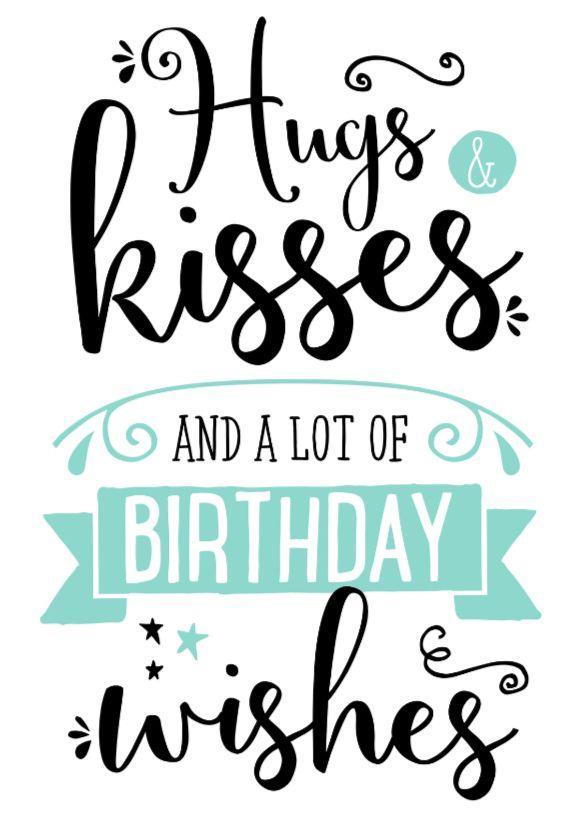 verjaardagskaart hugs kisses this