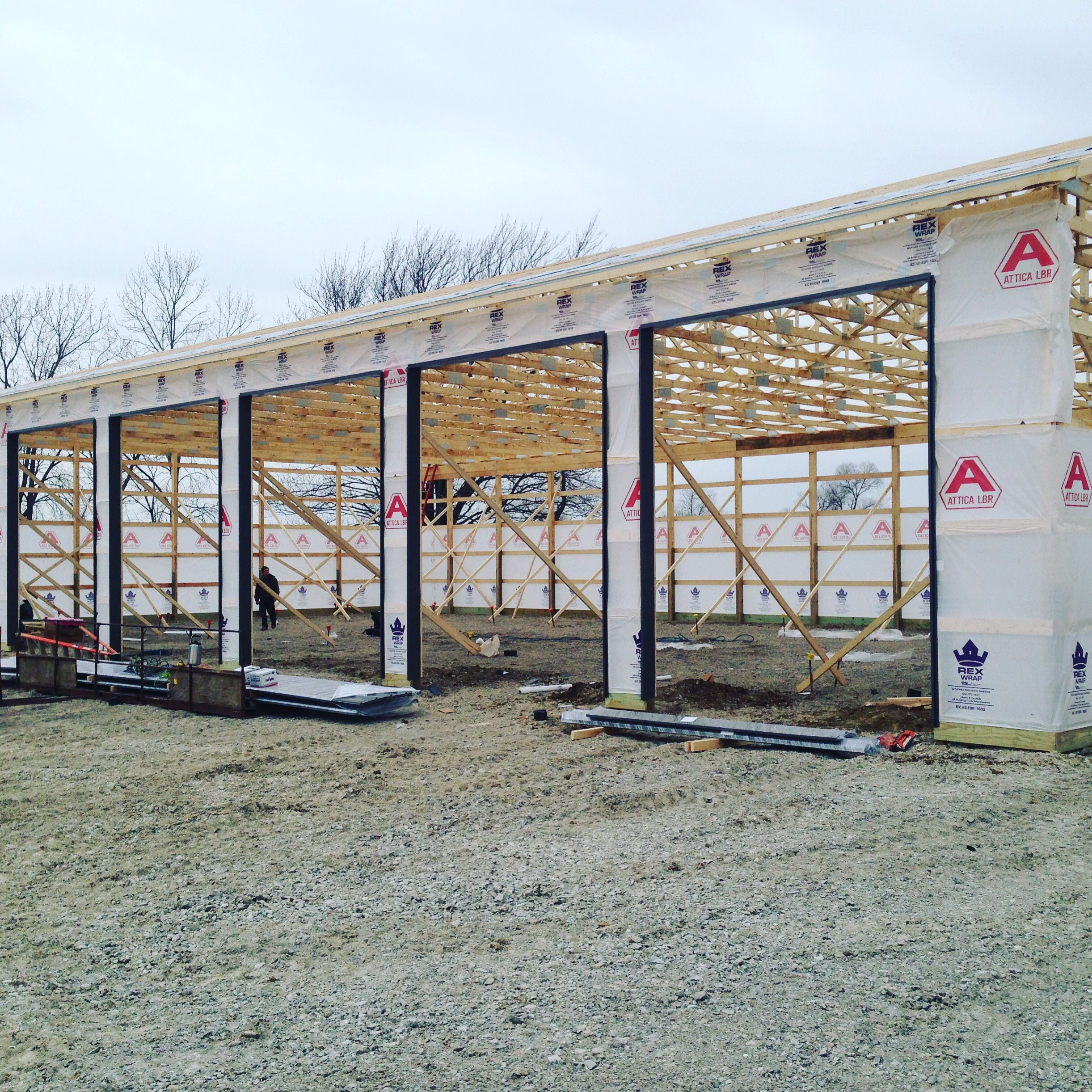 These 5 overhead door bays will provide entry and exit
