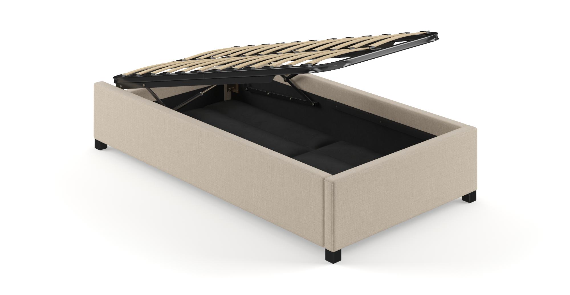 Single Size Upholstered Gaslift Bed Base Bed frame