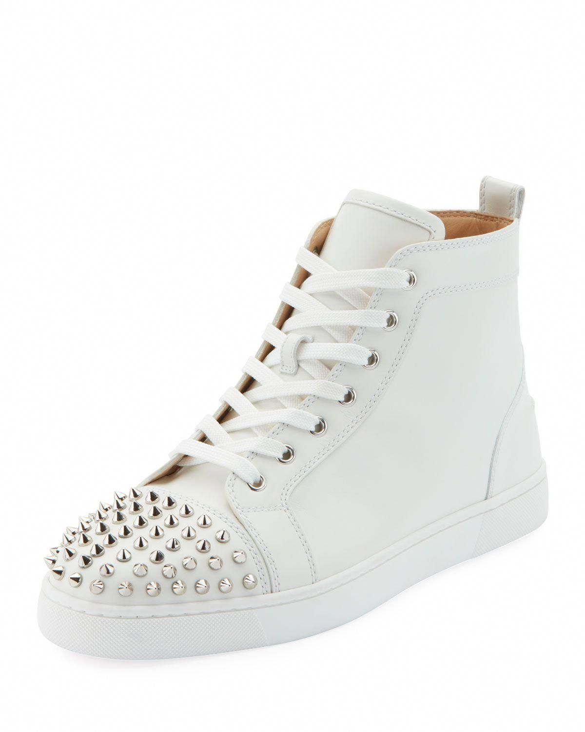 9f3967c7138f CHRISTIAN LOUBOUTIN MEN S LOU SPIKES HIGH-TOP SNEAKERS.  christianlouboutin   shoes