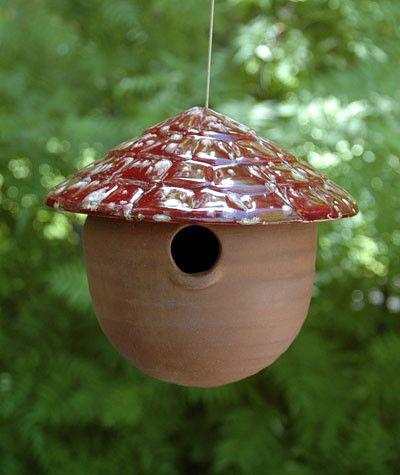 Ceramic Gourd Birdhouse   Ceramics   Bird houses, Gourds