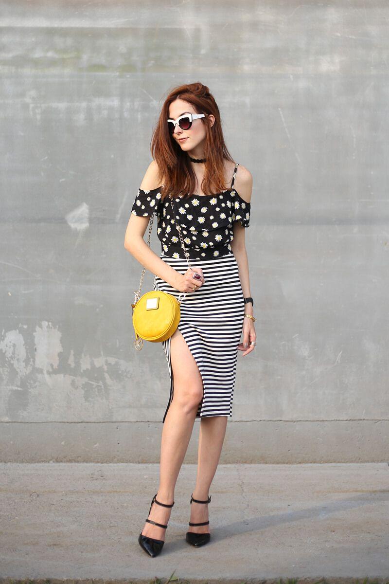 FashionCoolture - 31.08.2016 look du jour Slywear striped pencil skirt  floral… 684d21c8baa