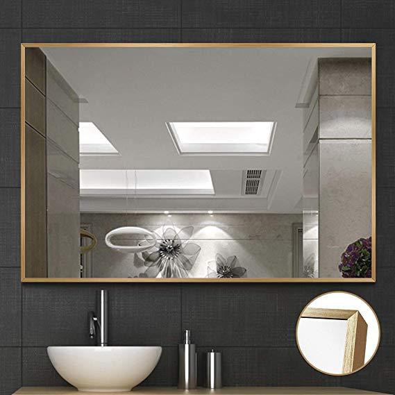 Amazon Com Neutype Large Wall Mounted Mirrors For Bathroom Bedroom Living Room Vanity Mirror Brush In 2020 Bathroom Mirror Frame Bathroom Mirror Wall Mounted Mirror