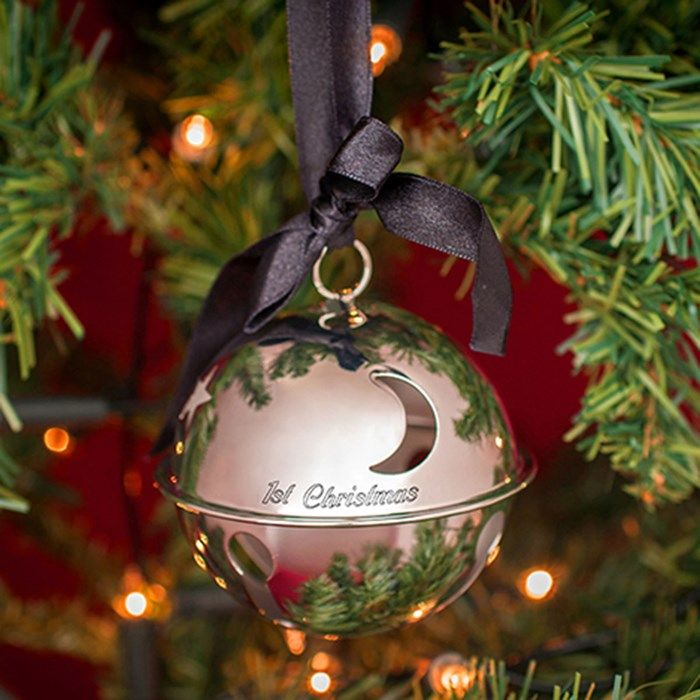 Silver Bells Decorations Engraved Large Silver Festive Bell Decoration  Gettingpersonalco