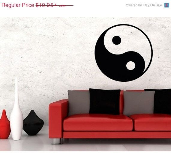 428e091878 Ying Yang symbol exotic tribal wall decal sticker by StyleandApply ...